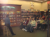 Event at the Fenton/St. Louis Barnes & Noble.  The managers there were wonderful!  My brother Steve is standing in back on the left.