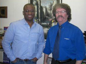Jeffrey with Vaughn Halyard, Executive Produce of <em>Inman's War: the Movie</em>