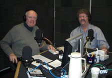 "Me with Don Marsh on the NPR program ""St. Louis On the Air."""